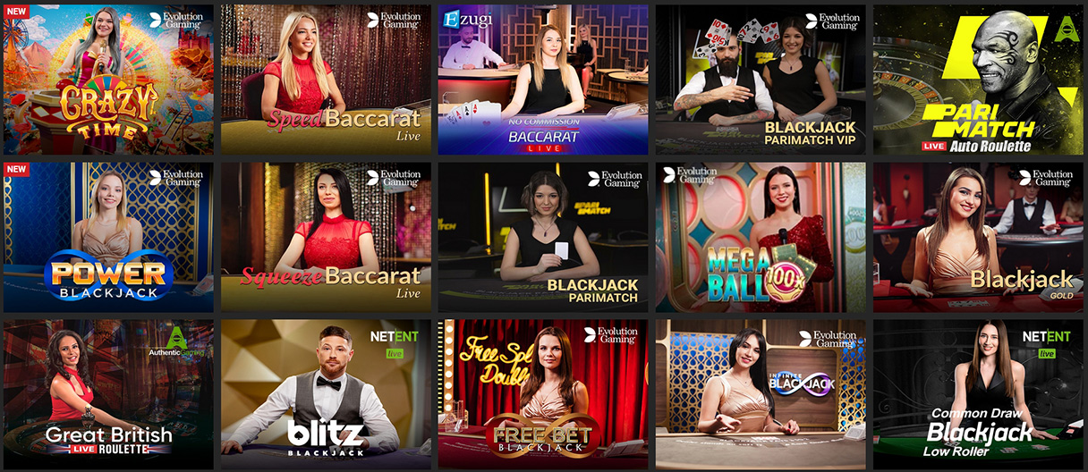 Live dealers in PariMatch Casino.